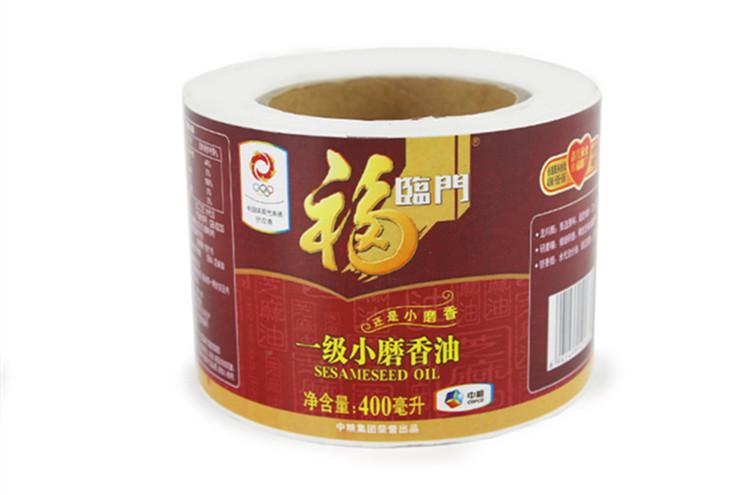 食用油不干胶标签印刷