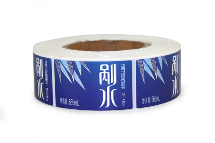 珠光膜矿泉水标签印刷
