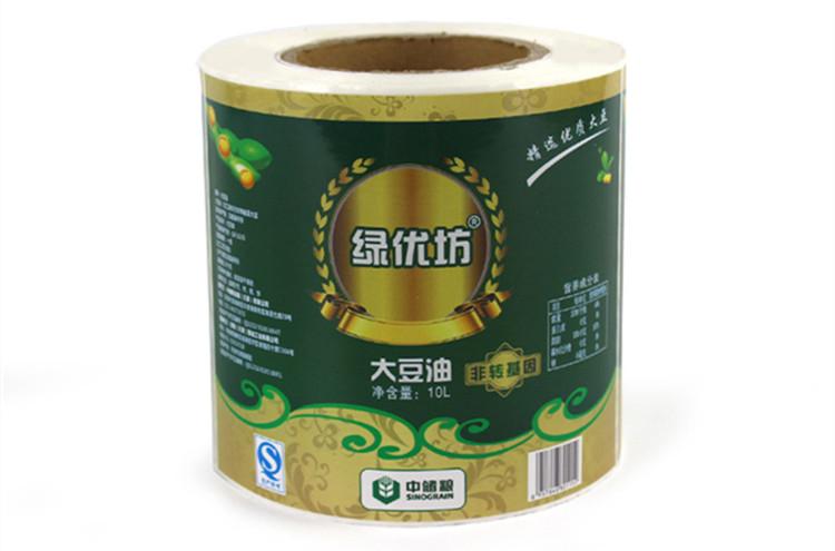 大豆油瓶贴标签印刷