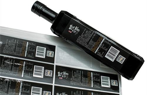 芝麻香油产品不干胶印刷